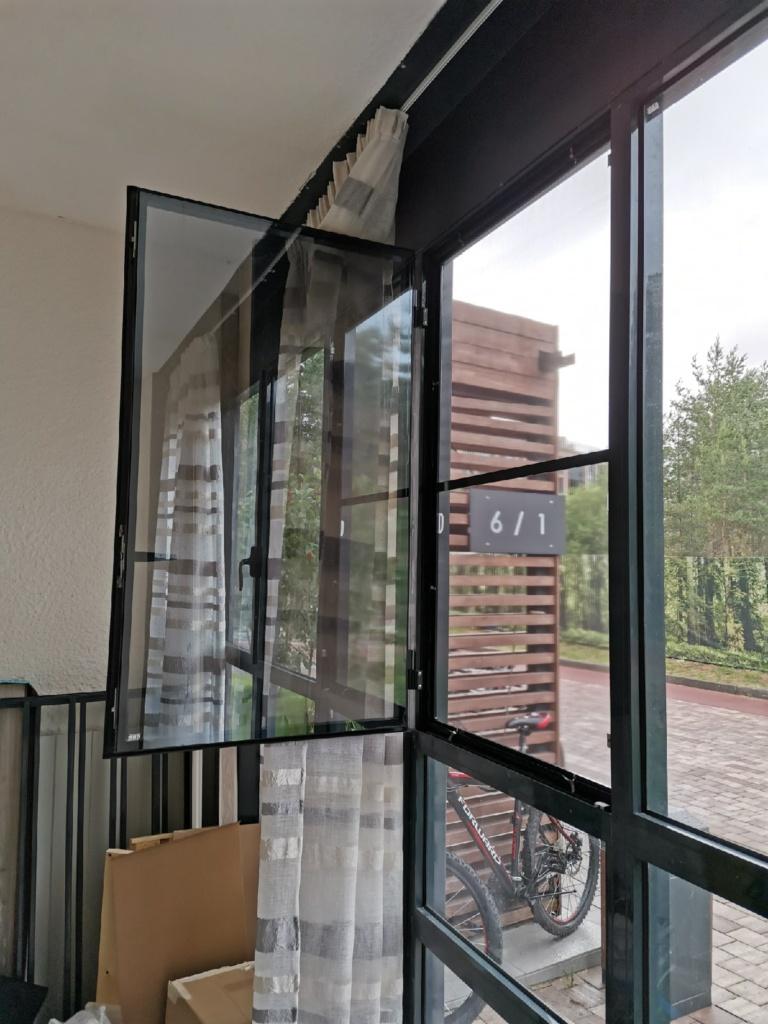 Воздушный фильтр антипыль в алюминиевом окне