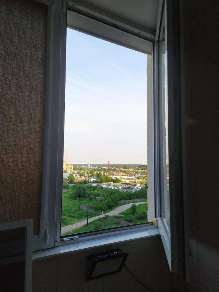 """Вид из окна ДО установки москитки """"Антипыль"""""""