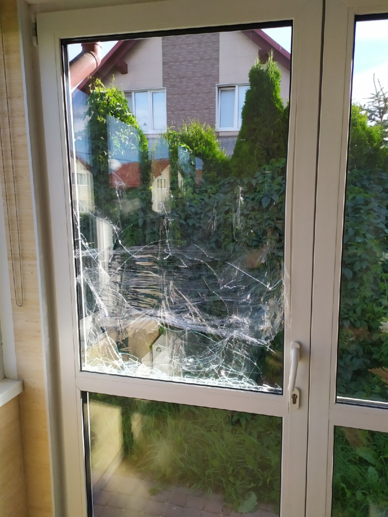 Разбился стеклопакет в двери ПВХ